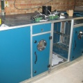 Hospital AHU during installation from kit parts
